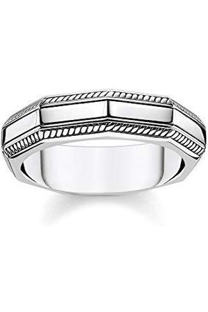 Thomas Sabo Unisex pierścionek prostokątny srebrny 925 srebro szterlingowe TR2276-637-21-58