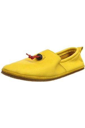 POLOLO Unisex niemowlęce stopka sztruksowa żółty płaski slipper, 20 EU