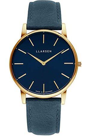 LLARSEN Męski analogowy zegarek kwarcowy ze skórzanym paskiem 147GDG3-GOCEAN20