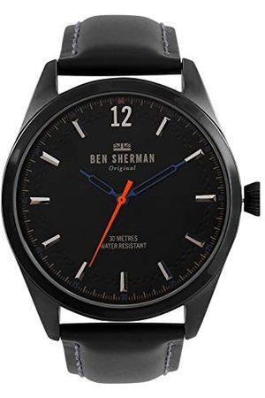 Ben Sherman Męski analogowy klasyczny zegarek kwarcowy ze skórzanym paskiem WB019BB