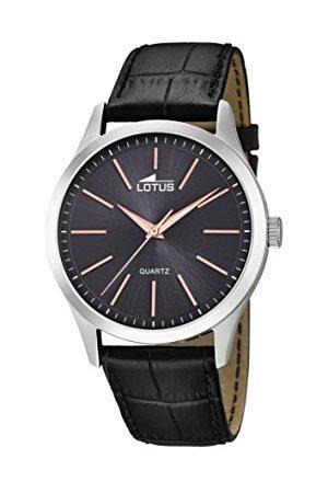 Lotus Męski analogowy klasyczny zegarek kwarcowy ze skórzanym paskiem 15961/8