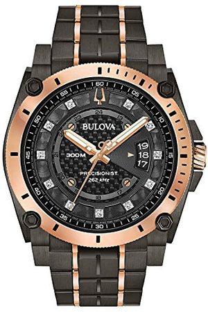 BULOVA Męski analogowy zegarek kwarcowy z paskiem ze stali nierdzewnej 98D149