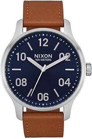 Nixon Zegarek na rękę Patrol skóra Navy/Saddle
