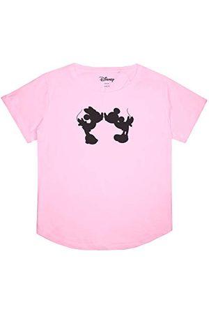 Disney Damski T-shirt z sylwetką Miki i Minnie