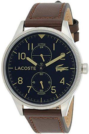 Lacoste Męski analogowy zegarek kwarcowy ze skórzanym paskiem ze skóry cielęcej 2011040