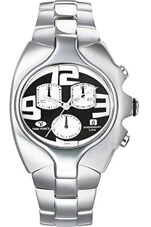 Time Force TF2640M-04M-1 męski chronograf kwarcowy zegarek z bransoletką ze stali szlachetnej