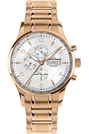 Jacques Lemans Męski analogowy zegarek kwarcowy Smart Watch z powłoką ze stali szlachetnej pasek 1-1844M