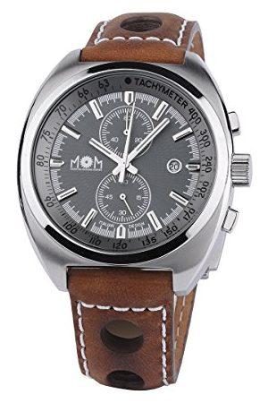 M.O.M. Manifattura Orologiaia Modenese Męski chronograf kwarcowy zegarek ze skórzanym paskiem PM7610-0127