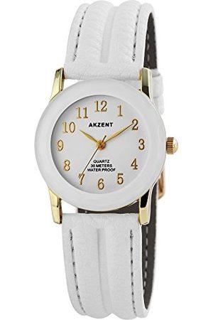 Akzent Męski analogowy zegarek kwarcowy ze skórzanym paskiem SS730200013