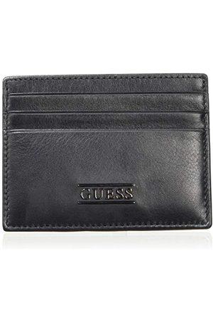 Guess New Boston Card Case, męski pokrowiec na identyfikator, (Black), 0,5 x 7,5 x 10 cm (szer. x wys. dł.)