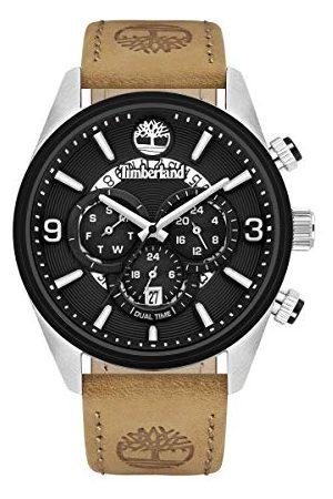 Timberland Męski analogowy zegarek kwarcowy ze skórzaną skórą cielęcą bransoletka TBL16014JSTB.02