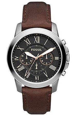 Fossil Męski analogowy zegarek kwarcowy ze skórzaną bransoletką FS4813IE