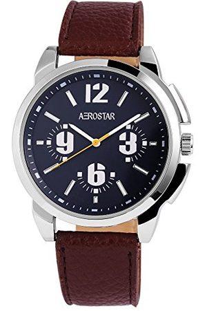 Aerostar Męski analogowy zegarek kwarcowy z imitacji skóry 21102300006