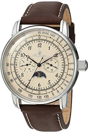 Burgmeister Męski analogowy zegarek kwarcowy ze skórzanym paskiem BM335-195A