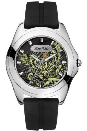 Marc Ecko Męski data klasyczny zegarek kwarcowy ze skórzanym paskiem E07502G1