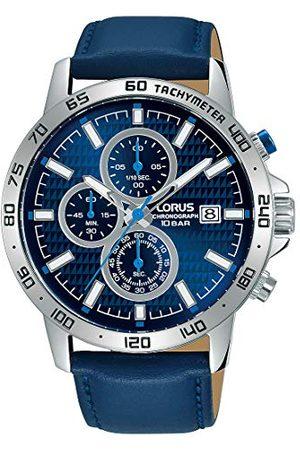 Lorus Sport zegarek męski chronograf stal szlachetna ze skórzanym paskiem RM307GX9