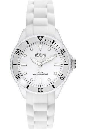 s.Oliver Analogowy zegarek kwarcowy, z silikonowym paskiem, unisex SO-2296-PQ One Size /