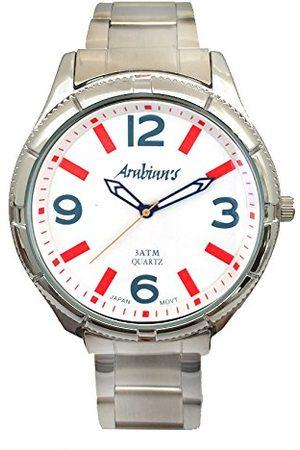 ARABIANS Męski analogowy zegarek kwarcowy z bransoletką ze stali szlachetnej HAP2199W
