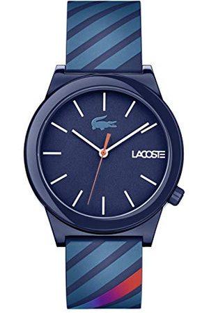 Lacoste Męski analogowy zegarek Motion z silikonowym paskiem Taśma /
