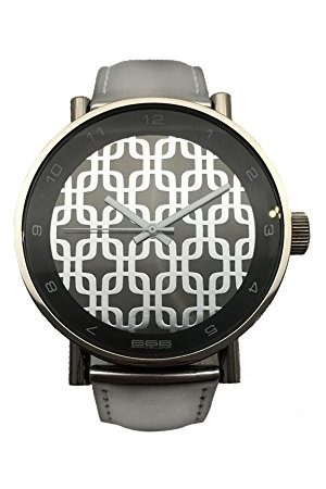 666Barcelona Uniseks analogowy zegarek kwarcowy dla dorosłych ze skórzaną bransoletką 66-203
