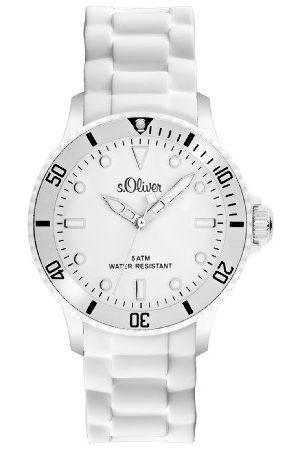 s.Oliver Analogowy zegarek kwarcowy, uniseks, z silikonową bransoletką SO-2291-PQ