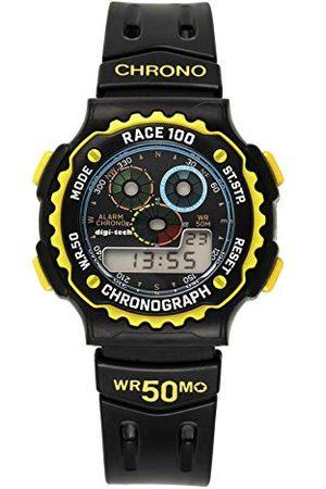 Digi-Tech Digital Chrono Race męski zegarek z kauczukową bransoletką Pasek żółty