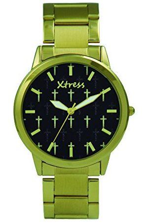 XTRESS Męski analogowy zegarek kwarcowy z bransoletką ze stali szlachetnej XPA1033-01