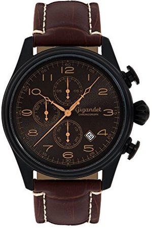 Gigandet G41-005 męski zegarek z brązowym skórzanym paskiem
