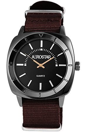 Aerostar Męski analogowy zegarek kwarcowy z bransoletką z materiału 21107100005