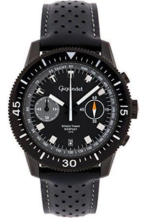 Gigandet Zegarek męski chronograf mechanizm kwarcowy analogowy ze skórzanym paskiem Speed Timer G7-007