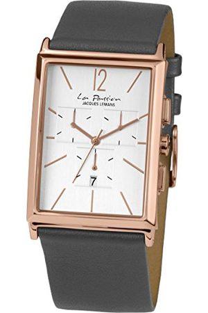 Jacques Lemans Unisex analogowy zegarek kwarcowy ze skórzanym paskiem LP-127I