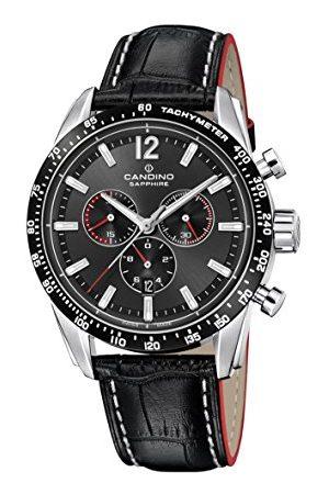 Candino Męski zegarek kwarcowy z chronografem ze skórzanym paskiem C4681/2
