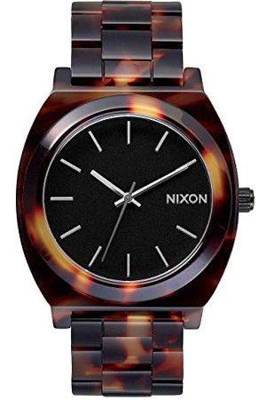 Nixon Time talerz Acetate zegarek damski analogowy kwarcowy z bransoletką z octanu Einheitsgröße Tortoise