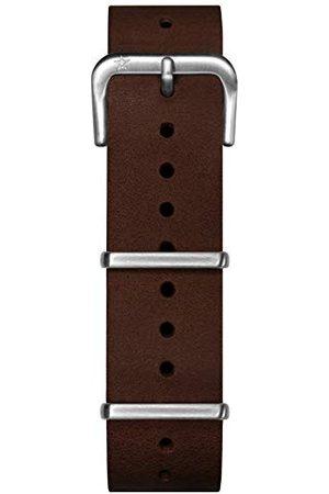 Oxygen Unisex brązowa skórzana klamra przypinka 20 cm EX-NL-STR-20-DB