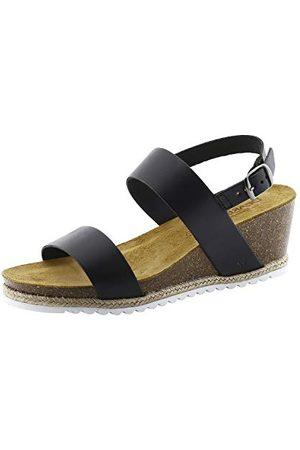 Bearpaw Yasmin damskie sandały z odkrytymi palcami, - Schwarz Black Ii 011 Black Ii 011-39 EU