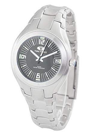 Time Force Męski analogowy zegarek kwarcowy z bransoletką ze stali szlachetnej TF2582M-01M