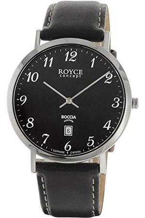 Boccia Męski chronograf kwarcowy zegarek ze skórzanym paskiem 3634-02