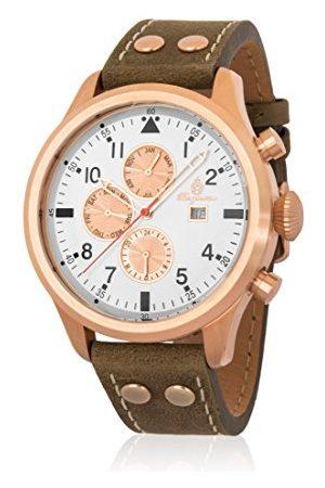 Burgmeister Męski analogowy kwarcowy zegarek ze skórzanym paskiem BM227-315
