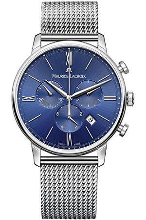 Maurice Lacroix Męski chronograf kwarcowy zegarek z bransoletką ze stali szlachetnej EL1098-SS002-410-1
