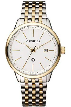 ORPHELIA Męski zegarek na rękę Lifetime analogowy kwarcowy stal szlachetna Pasek