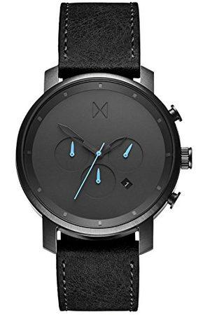 MVMT Męski chronograf kwarcowy zegarek ze skórzanym paskiem D-MC01-GUBL