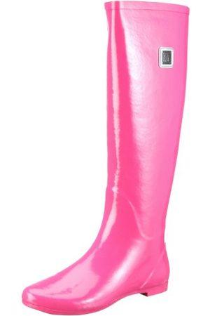 Colors of California Stivale in Gomma Morbida Alto HC.RB01 kalosze damskie, - Pink Fux - 36 EU