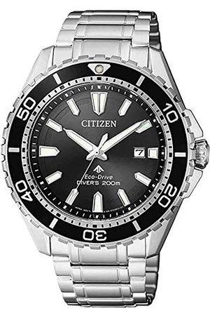 Citizen Męski analogowy zegarek solarny z bransoletką ze stali szlachetnej BN0190-82E