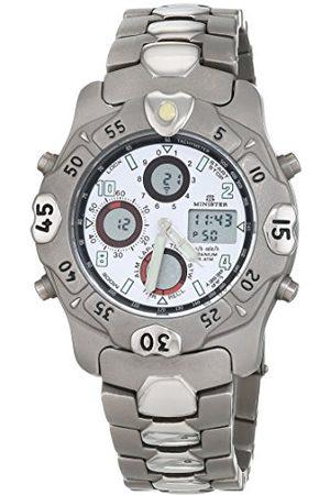 Minister Męski chronograf kwarcowy zegarek z bransoletką ze stali szlachetnej 6962
