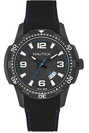 Nautica Męski analogowy zegarek kwarcowy z silikonowym paskiem NAI13511G