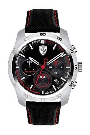 Scuderia Ferrari Męski chronograf kwarcowy zegarek ze skórzanym paskiem 0830444