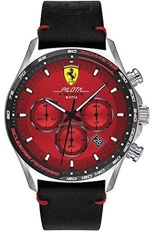 Scuderia Ferrari Męski analogowy zegarek kwarcowy ze skórzanym paskiem 0830713