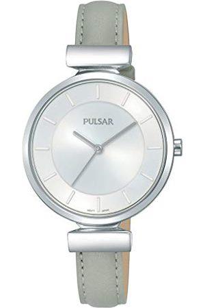 Pulsar Kwarcowy zegarek damski stal szlachetna ze skórzanym paskiem PH8415X1