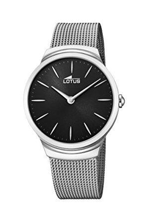 Lotus Męski data klasyczny zegarek kwarcowy z bransoletką ze stali szlachetnej 18493/3