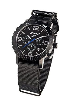 BOGEY Męski chronograf kwarcowy zegarek z gumową bransoletką BSFS007BKBK